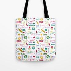 Farmers market pattern - white Tote Bag