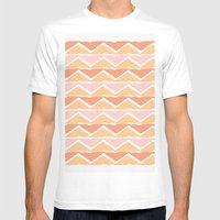 triangle sunset Mens Fitted Tee White SMALL