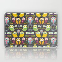 Owls and flowers Laptop & iPad Skin