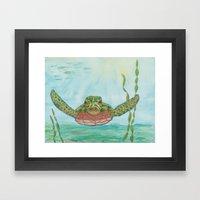 Ripley Sea Turtle Framed Art Print