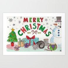 Christmas Card! Art Print