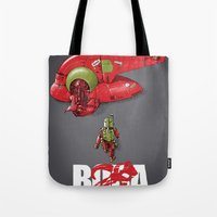 BobAkira (red with white text) Tote Bag