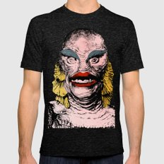 The Gorgeous Gill Man from the Black Lagoon Mens Fitted Tee Tri-Black SMALL