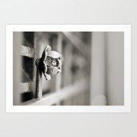 Fence B/W Art Print
