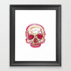 Skull abstract 01 color red Framed Art Print