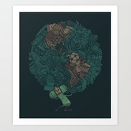 Art Print featuring Prince Atlas by Hector Mansilla