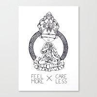 FeelMore X CareLess Canvas Print