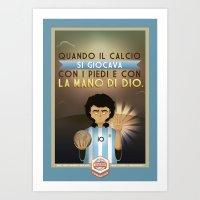 Poster Nostalgica - Maradona Art Print