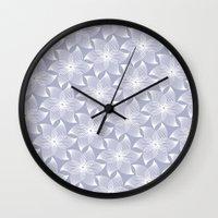Pale Flower Pattern Wall Clock