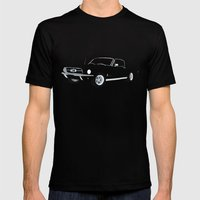 1968 Ford Mustang GT Mens Fitted Tee Black SMALL