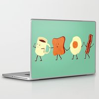 dream Laptop & iPad Skins featuring Let's All Go And Have Breakfast by Teo Zirinis