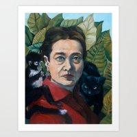 Simone DeBeauvoir Art Print