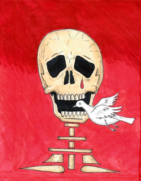 Death eating peace Art Print