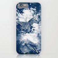 zebra splashed  iPhone 6 Slim Case