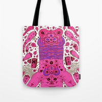 Pink Worm Neck Tote Bag