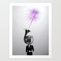 horn player Art Print