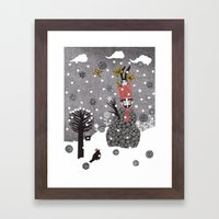 Snow Magician Framed Art Print