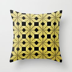 Golden Snow Throw Pillow