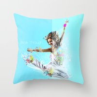 Break Through Throw Pillow