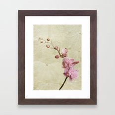 Orchid and Leaf texture Framed Art Print