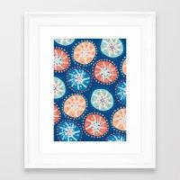 Flower Puffs Framed Art Print