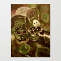 Super Happy Jelly Show Canvas Print