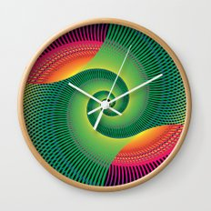 Double Spiral  Wall Clock