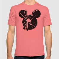 Mickey Is Dead No.1 Mens Fitted Tee Pomegranate SMALL