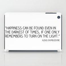 Happiness is always somewhere. iPad Case