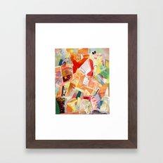Shattered colors Framed Art Print