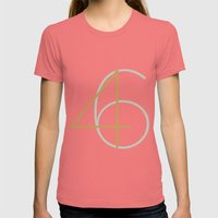 46 Womens Fitted Tee Pomegranate SMALL