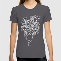 flowers in your hair Womens Fitted Tee Asphalt SMALL