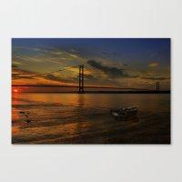 Humber Bridge Sunset 201… Canvas Print