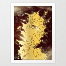 girl in the galaxy Art Print