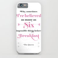 iPhone & iPod Case featuring Six impossible things by NeilRobertLeonard