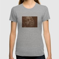 Round 8..chad Dawson Womens Fitted Tee Athletic Grey SMALL
