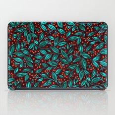 ORANGE BERRIES TURQUOISE LEAVES iPad Case