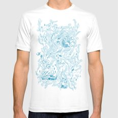 Le Grand Bleu Mens Fitted Tee White SMALL