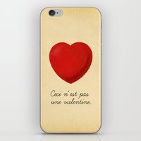 Ceci n'est pas une valentine (this is not a valentine) iPhone & iPod Skin