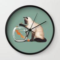 Goldfish need friend Wall Clock