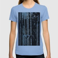 Birch Forrest At Night Womens Fitted Tee Athletic Blue SMALL