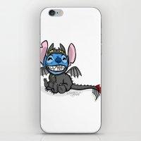 Toothless Stitch iPhone & iPod Skin