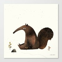 Ants Again (Anteater) Canvas Print