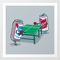 Beer Pong Art Print