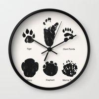 Animal Track Wall Clock