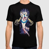 By Moonlight - Sailor Moon nouveau Mens Fitted Tee Black SMALL
