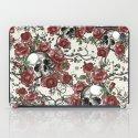 Skulls and Roses or Les Fleurs du Mal iPad Case