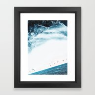 Framed Art Print featuring Teal Swim by Stoian Hitrov - Sto