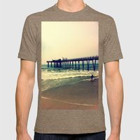 Shore at Dusk Mens Fitted Tee Tri-Coffee SMALL
