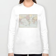 Vintage World Map (1901) Long Sleeve T-shirt